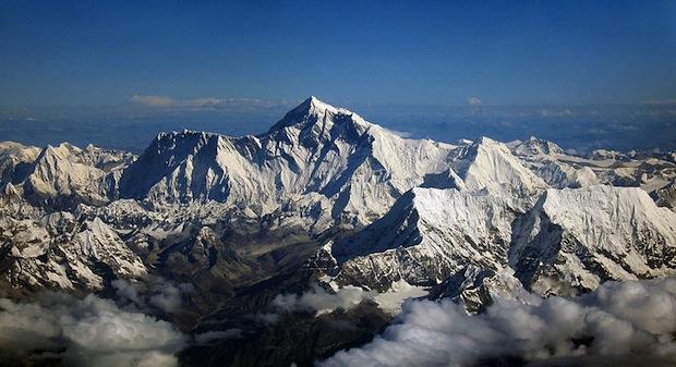 Mount everest from Drukair